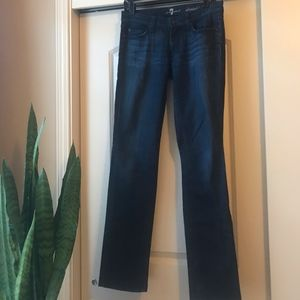 7 For All Mankind straight-leg jeans dark wash